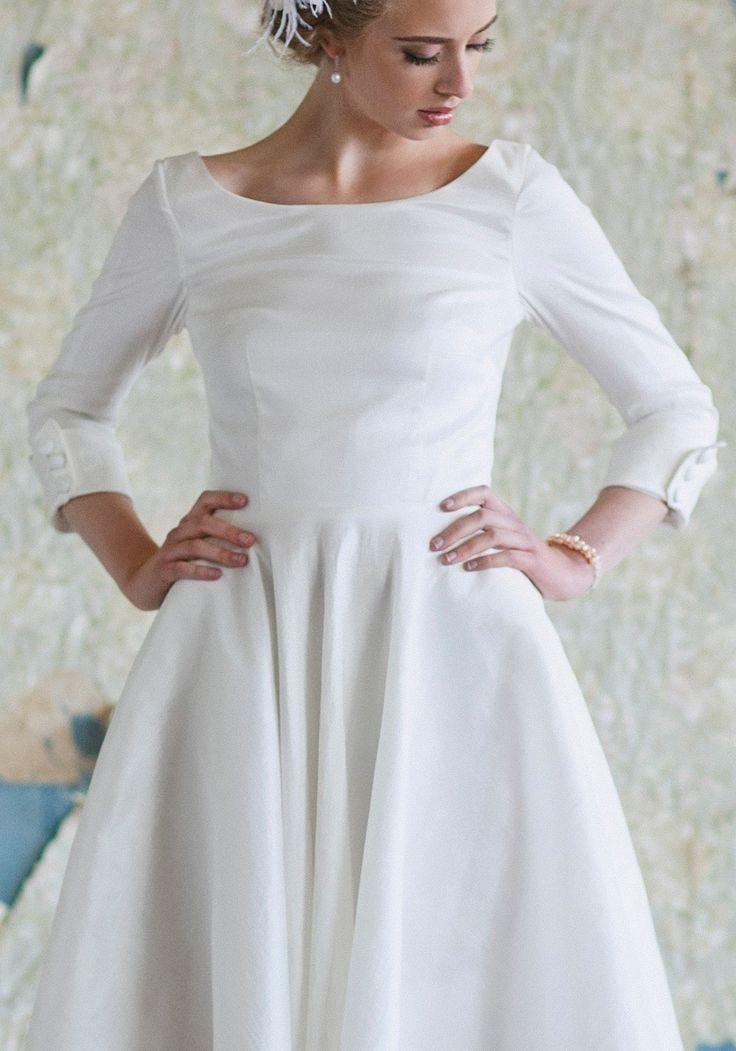 54 best midi wedding dress images on pinterest for Midi length wedding dress