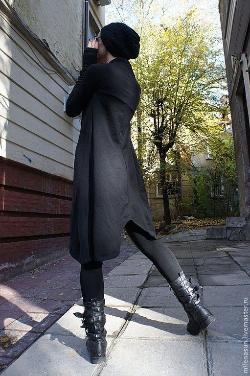 Купить Хлопковое пальто Black Blazer - чёрный, пальто, блейзер, Осеннее пальто, осень 2013