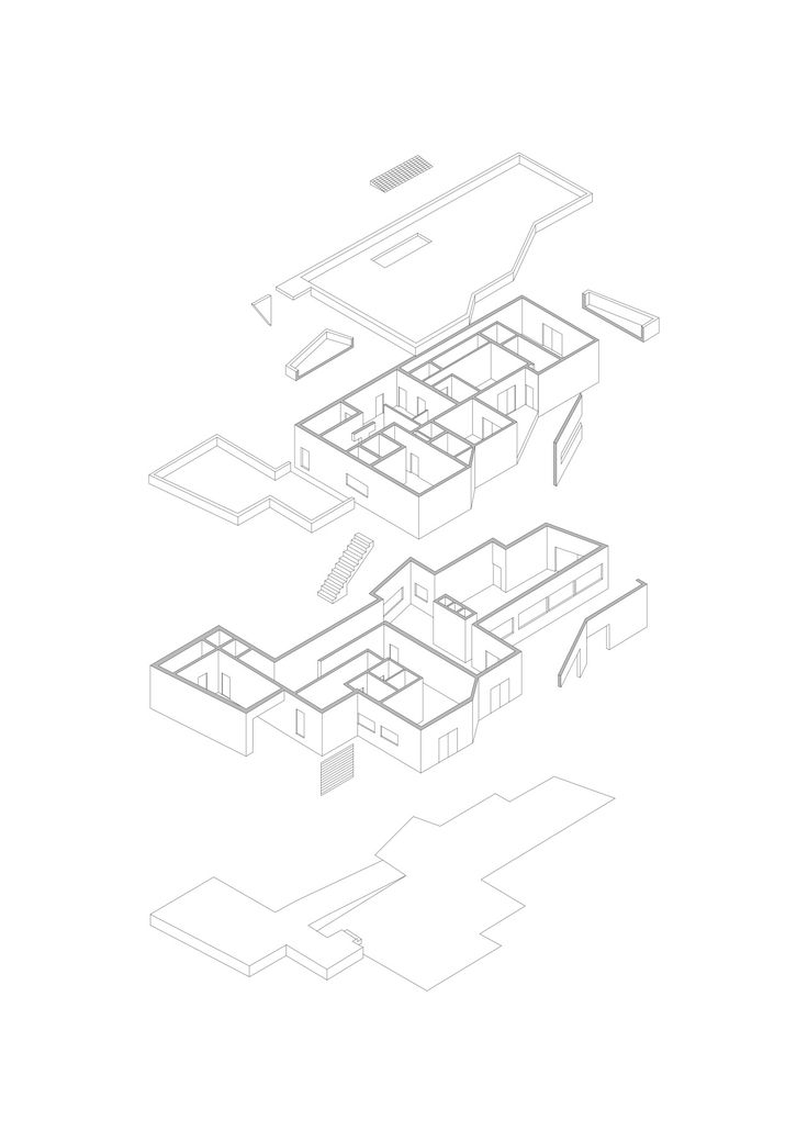 Precedent study ofCasa Vieira de Castro,Alvaro Siza. The very first isometric that I ever did. First time I realized that buildings are so freaking complex. I didn't understand why Siza did what he did but I think I understand this building a bit better now than I did back then.