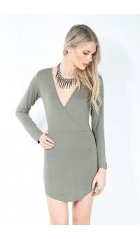 Patsy Longsleeves Wrap over High Low Dress £7.99