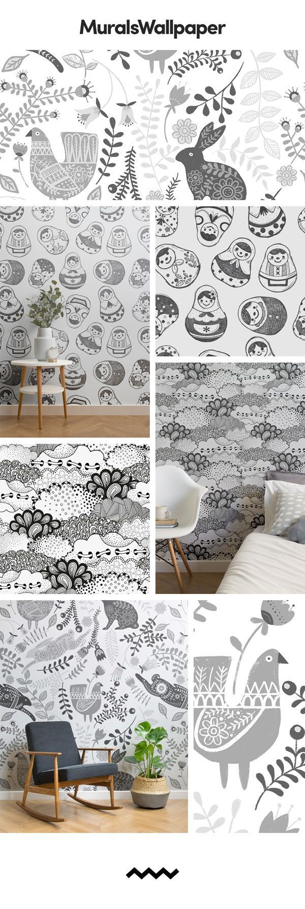 Gray patterned wallpapers are both fun and stylish at the same time, and for amazing …  #am…