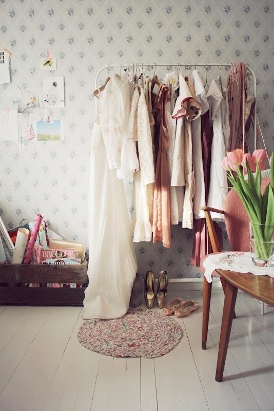 Vintage dressing room.