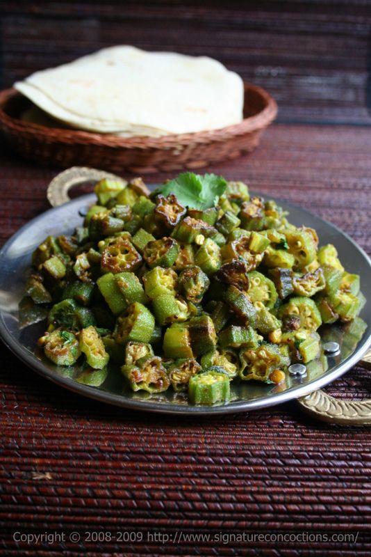 Crispy Bhindi - okra, Indian style