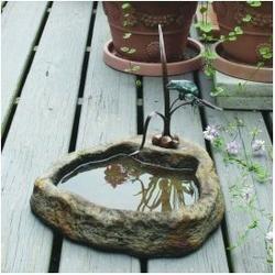 Tree Frog with Basin Bronze Garden Sculpture: Lava $