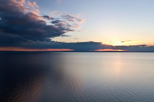 Lake Vättern at sundown
