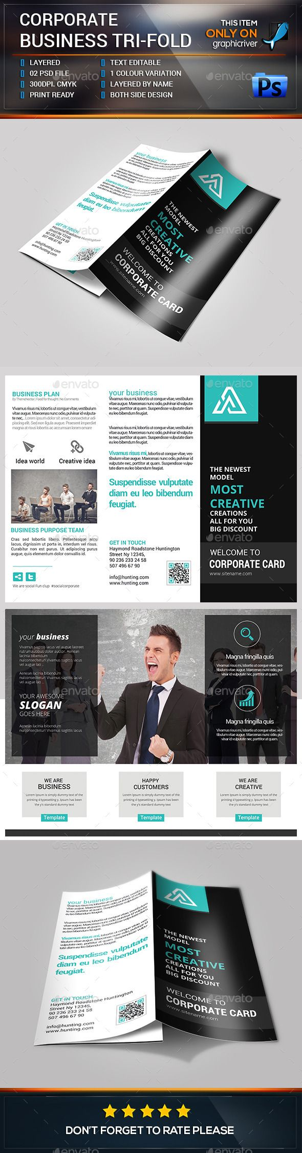 Trifold Brochure Bundle Graphicriver These Brochure Templates Is