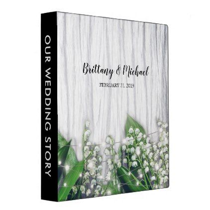 Rustic Lily of the Valley Wedding Story Album 3 Ring Binder - #chic gifts diy elegant gift ideas personalize