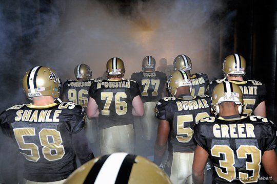The Saints making their way into The Dome! #whodat #saints #nola