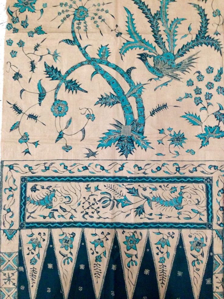 Hand drawn Vintage Shawl Batik Cirebon. Private collection of Arief Laksono.