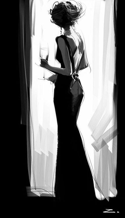 Glamour y misterio #illustration #ilustracion