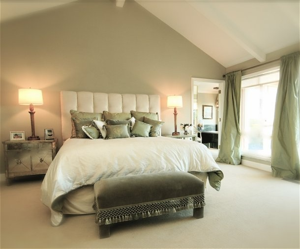Nicole Yee Serene Master Suite from Decorati Access, LaBranche PhotographyWall Colors, Green Bedrooms Painting, Favorite Places, Green Bedrooms Colors Schemes, Master Bedrooms, Bedrooms Painting Colors, Bedrooms Inspiration, Accent Walls, Sage Bedrooms
