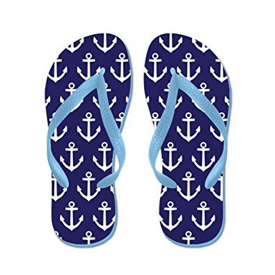 ed17150504bf41 CafePress – Anchor Nautical Navy Blue – Flip Flops