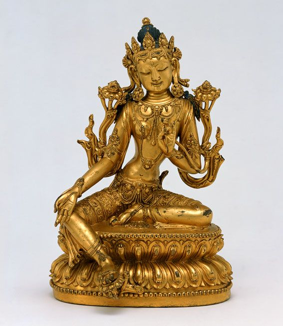 THE GREEN TARA The female bodhisattva Tara is filled with compassion for all creatures and promises to help them and protect them from all dangers. As a bodhisattva, literally, 'enlightenment being',...