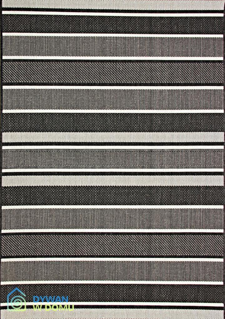 Dywan nowoczesny,dywan sznurkowy w czarno-bia?e pasy 217,00 zł - 160x230