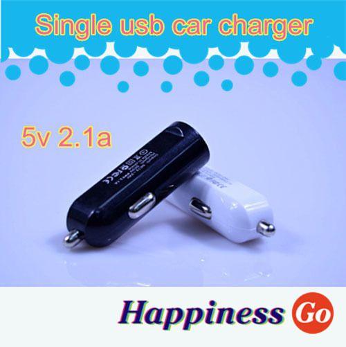 Мини usb автомобильное зарядное устройство USB Автомобильное Зарядное Устройство для Мобильного Телефона/GPS/PAD/MP3/MP4 5DC 2.1A выход автомобиль usb micro