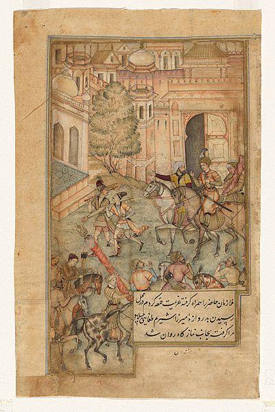 Prince Babur arriving at Andijan