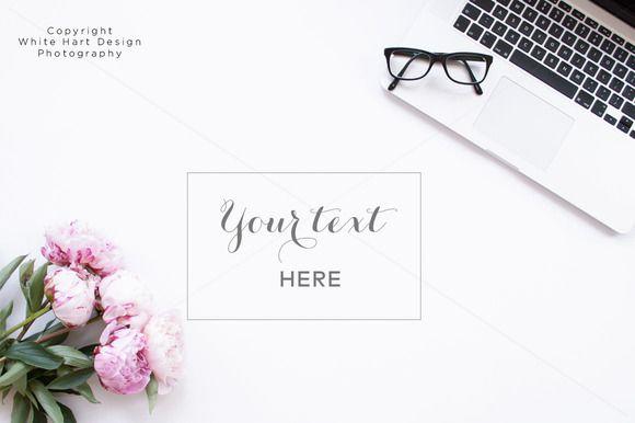 Styled desktop photography by White Hart Design Studio on Creative Market