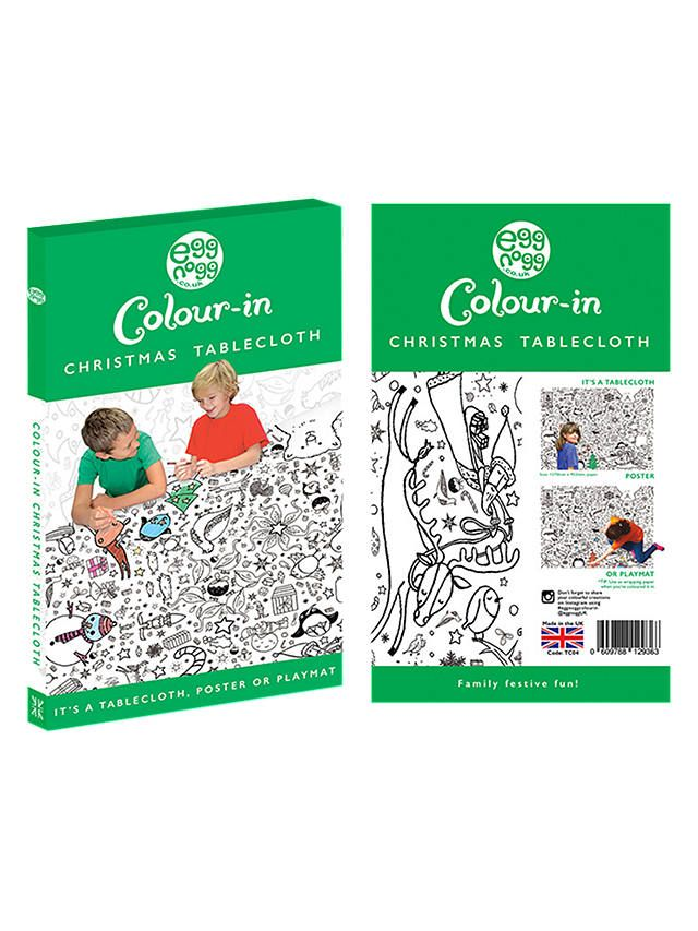 Eggnogg Colouring Christmas Colour In Paper Tablecloth Christmas Colors Christmas Table Cloth Paper Tablecloth