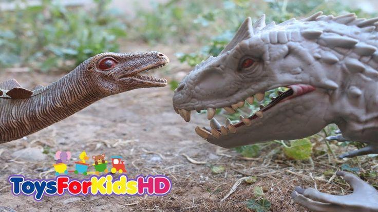 Dinosaurios para niños Indominus Rex v/s Stegosaurio  Aventura de Dinosaurios de Juguetes