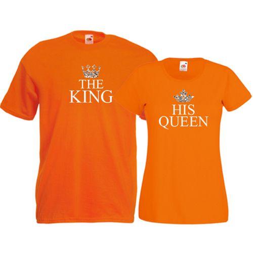 Tricouri pentru cuplu The King - His Queen