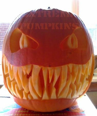 This year I want a pumpkin with big teeth for some reason.
