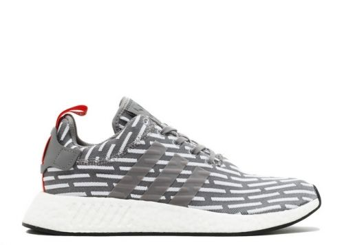 newest 6cb34 53e44 Latest NMD R2 JD SPORTS grey white red by2097