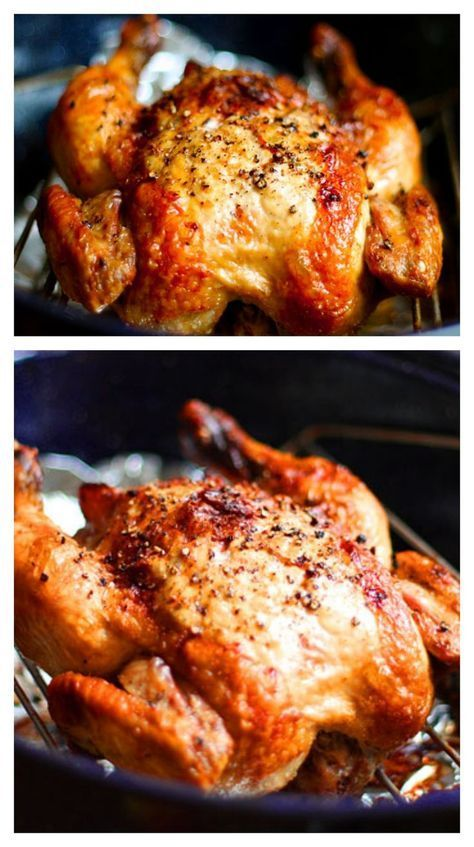 No need to buy roasted chicken at the store! It is super quick and easy to prepare at home, plus you can customize the seasonings however you'd like! gimmesomeoven.com #chicken #recipe