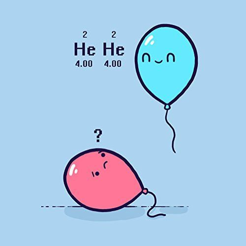 'Helium' Balloon Science Humor - Vinyl Sticker