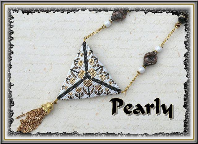 triangle réversible verso, delicas plaqué or | Flickr - Fotosharing!