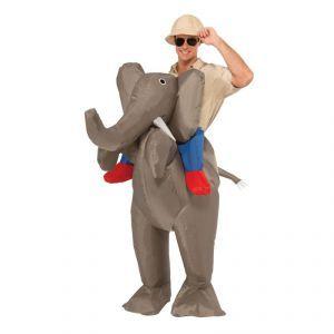 Idéal pour vos fêtes déguisées, ce costume d'éléphant gonflable fera sensation auprès des invités!