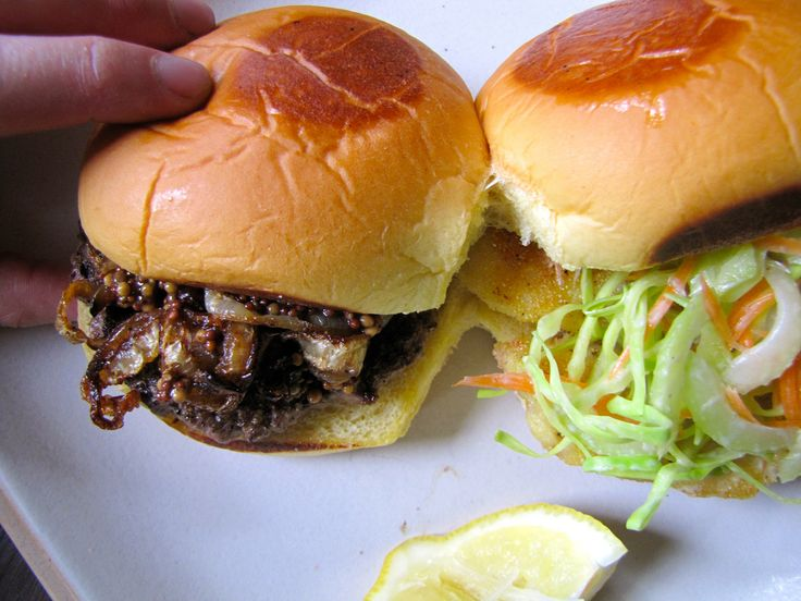 Surf 'n Turf Buddy Burgers   Not Eating Out in New York