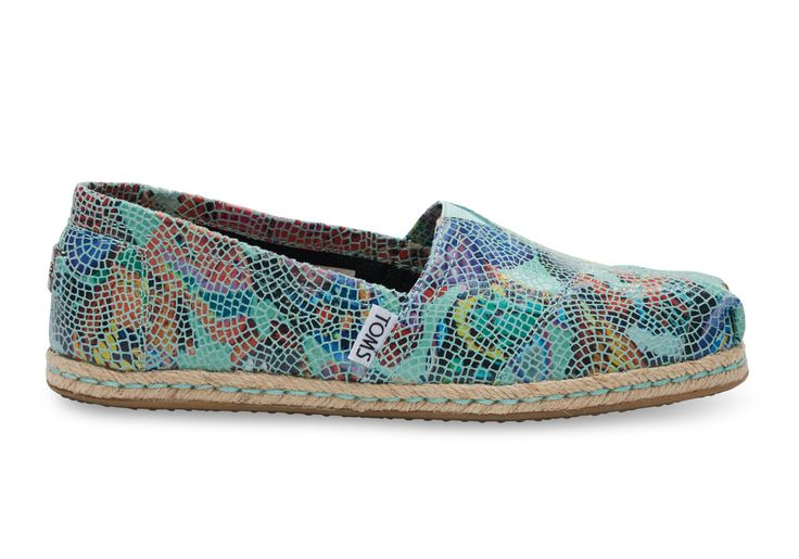 undefined Blue Leather Printed Mosaic Women's Classics