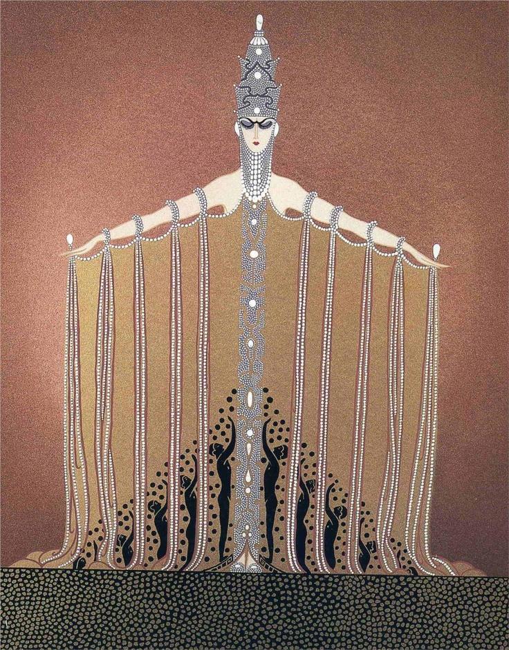 Adoration , Art Deco by Erte