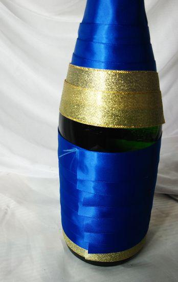 УКРАШЕНИЕ БУТЫЛОК. УКРАШЕНИЕ СВАДЕБНОГО ШАМПАНСКОГО. Украшение новогоднего шампанского. Украшение бокалов. Пошаговые фото