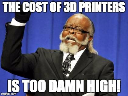 Is the Cost of Personal 3D Printers Too High? #3dprinting