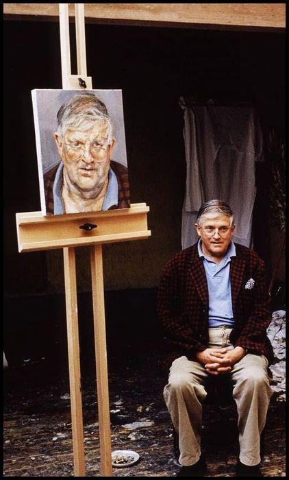 David Hockney on sitting for Lucian Freud