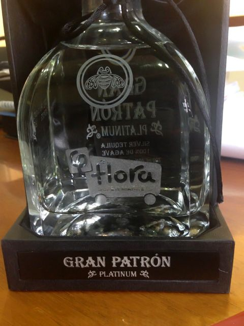 That's right. A special Gran Patron Platinum silver tequila with the Flora logo on the bottle!  #patron #GranPatron #tequila #FloraSuperMarkets #Mykonos #84600