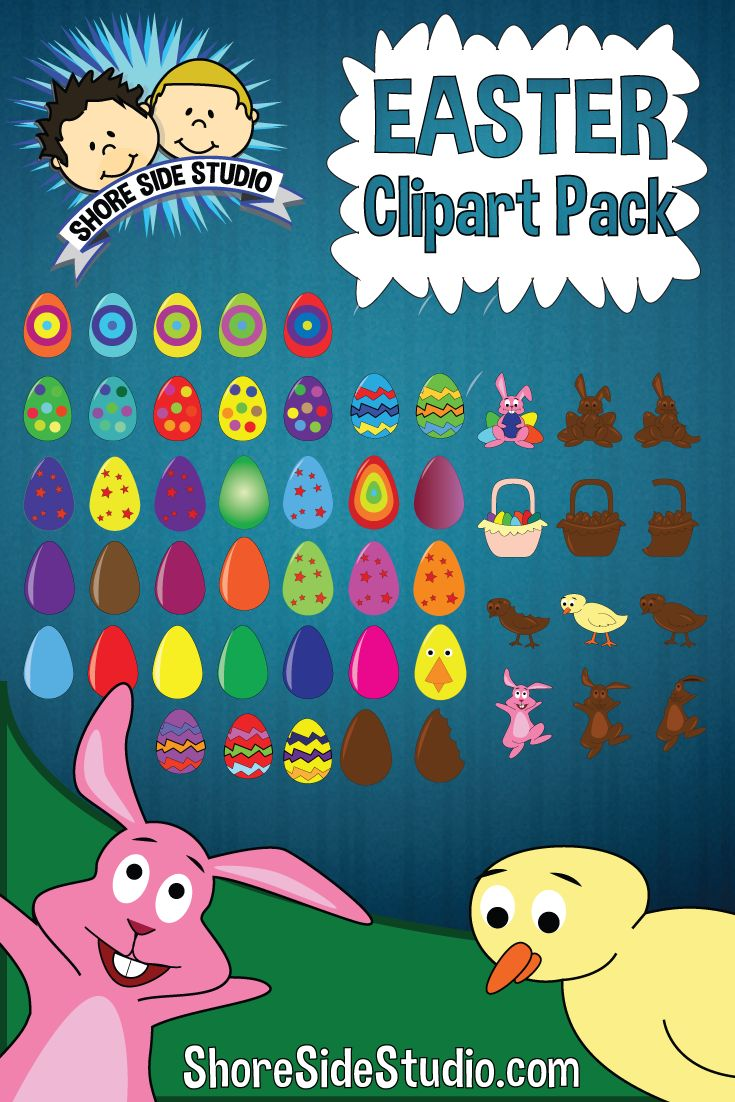 Shore Side Studio is proud to present our latest clip art pack. This clip art pack is all about Easter.