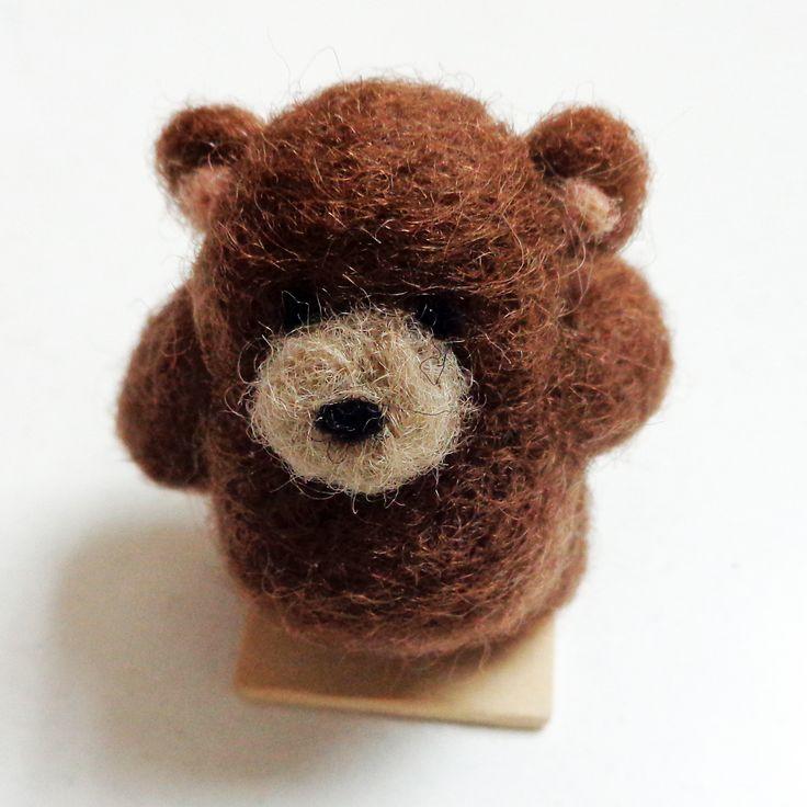 """Oh hello there little bear!"" needle felt"