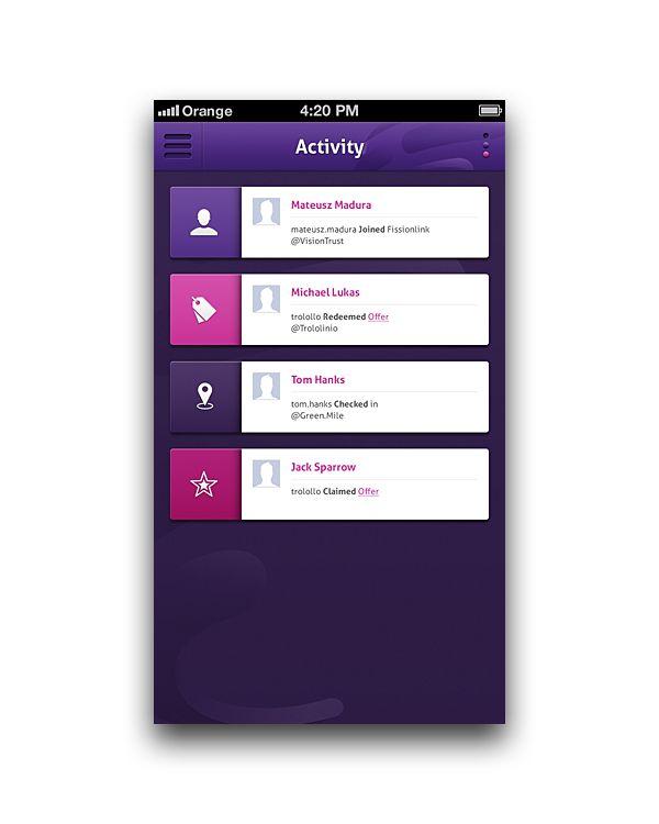 Fission Link App by Vision Trust, via Behance