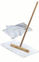 Cuban mop - my friend says it works great. I think I will have to try it.