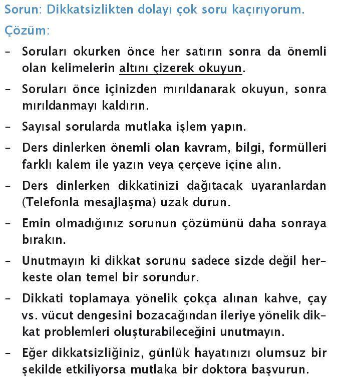 """""""Dikkatsizlikten dolayı çok soru kaçırıyorum."""" diyenler için tavsiyeler. #eğitim #sınav #ygs #lys"""