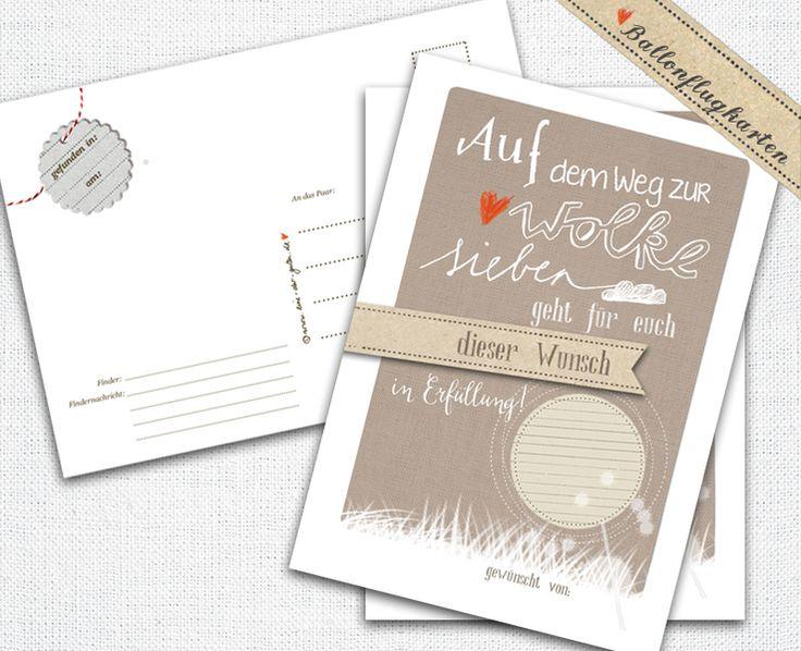 25  Ballonflugkarten,  Auf dem Weg zur Wolke 7 von EINE DER GUTEN - Bücher für ein tolleres Leben auf DaWanda.com