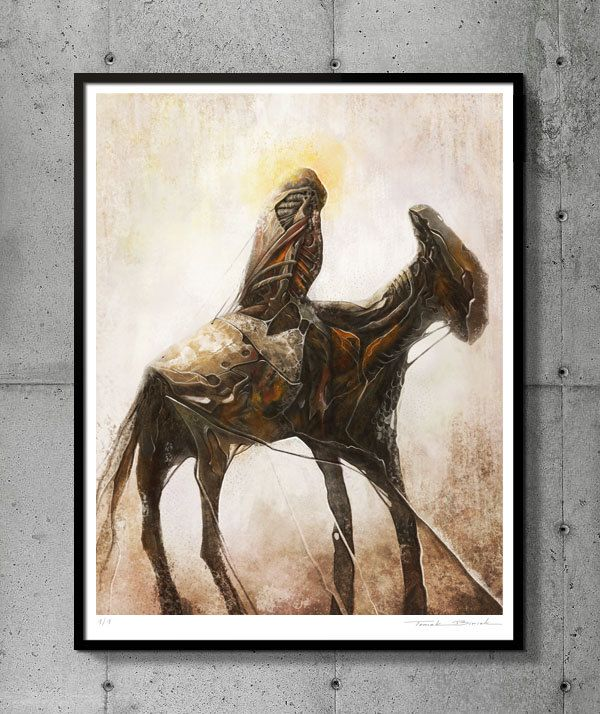 Tribute to Beksinski, EXCLUSIVE Limited edition 1/1, Art giclée print signed, certificate. Tomek Biniek. by TomekBiniek on Etsy