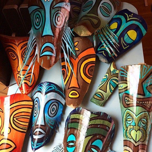 Palm Frond Tiki Masks by Schroederville