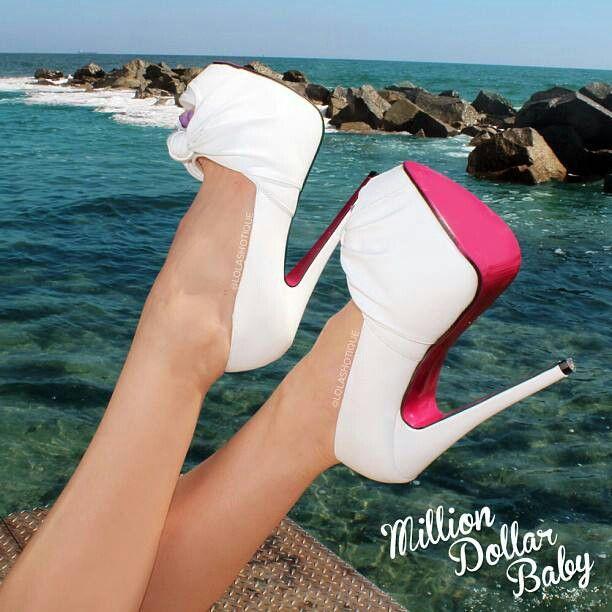 Beautiful pink & white stilletos