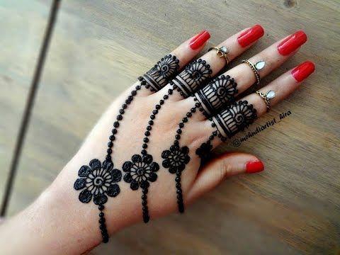 Eid 2017 special mehndi design || Easy latest Best jewellery mehndi designs for hands tutorial - YouTube