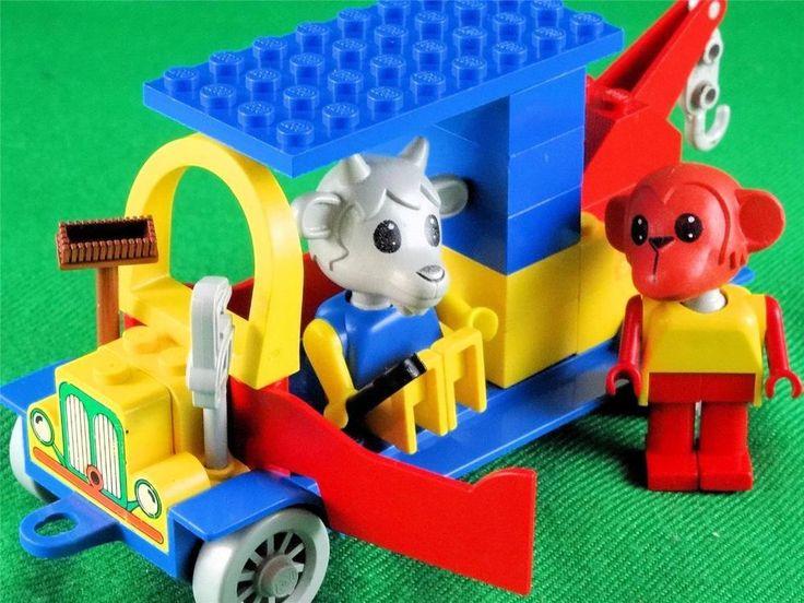 Vintage 1979 Lego Fabuland PART SET 134/344 TOW TRUCK w.BILLY GOAT & MIKE MONKEY