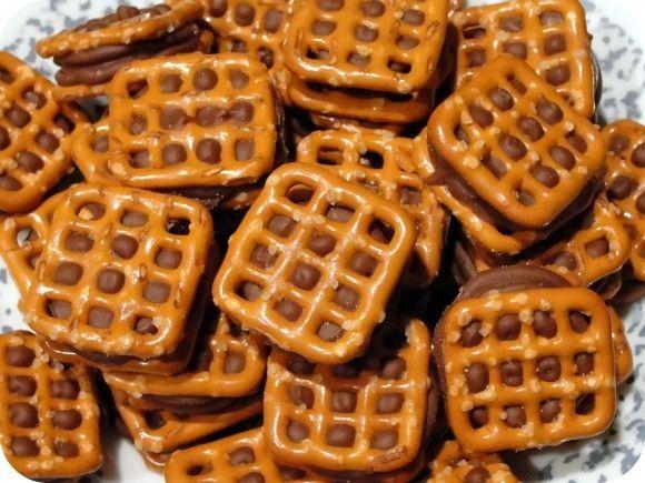 Yum! Pretzels, chocolate, and carmel = perfection! Rolo Bites Recipe http://pinterest.com/pin/232146555762199002/