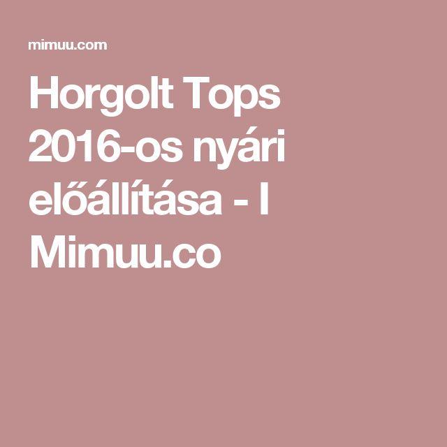 Horgolt Tops 2016-os nyári előállítása - I Mimuu.co